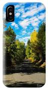 A Narrow Autumn Road IPhone Case