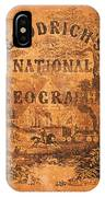 A National Geography For Schools With A Globe Map On A New Plan New York Huntington And Savage 1845 IPhone Case