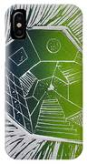 A New Dimension Blue And Green Linocut IPhone Case