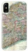 A New Map Of Ireland 1799 IPhone Case