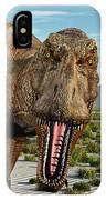 A Pack Of Tyrannosaurus Rex Dinosaurs IPhone Case