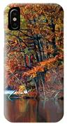A Painting Barney's Autumn Pond IPhone Case