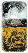 A Painting Jefferson Memorial Dali-style IPhone Case