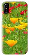 A Painting Tuscan Poppies IPhone Case