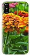 A Pair Of Yellow Zinnias 03 IPhone Case