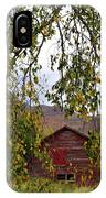 A Peak Of Fall Red Barn IPhone Case