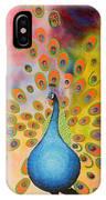 A Peculiar Peacock IPhone Case