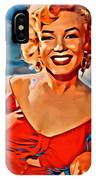 A Portrait Of Marilyn IPhone Case