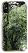 A Pretty Tree Covered Road Somewhere On Hilton Head Island IPhone Case