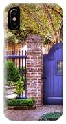 A Private Garden In Charleston IPhone Case