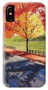A Quiet Autumn Road IPhone Case