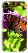 A Red Admiral On A Purple Budlier IPhone Case