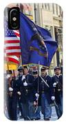 A Revolutionary Battalion Marching In The 2009 New York St. Patrick Day Parade IPhone Case