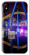 A Rollercoaster At A Theme Park In Usa IPhone Case