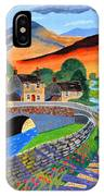 a Scottish highland lane IPhone Case