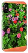 A Sea Of Zinnias 06 IPhone Case