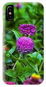 A Sea Of Zinnias 14 IPhone Case