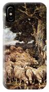 A Shepherdess With Her Flock Near A Stream IPhone Case