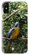 A Single Macaw Bird On A Branch Inside The Jurong Bird Park IPhone Case