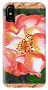 A Single Rose The Dancing Swirl  IPhone Case
