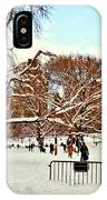 A Snow Day In Central Park IPhone Case