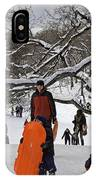 A Snow Day In The Park IPhone Case