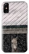 A Snowfall At The Stable IPhone Case