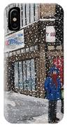 A Snowy Day On Wellington IPhone Case