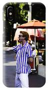 A Street Entertainer In The Hollywood Section Of The Universal Studios IPhone Case