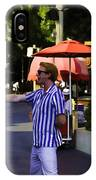 A Street Entertainer In The Hollywood Section Of Universal Studios IPhone Case