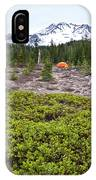 A Summer Day Camping At The Foot Of Mt IPhone Case
