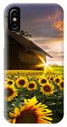 A Sunflower Moment IPhone Case