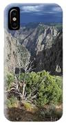 A Thunderstorm Is Approaching Over The Black Canyon IPhone Case
