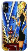A Toast To The Little Black Dress By Madart IPhone Case