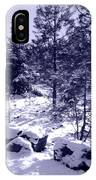 A Touch Of Snow In Lavender IPhone Case