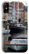 A Tour Boat At Nyhavn IPhone Case