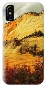 A Tree And Orange Hill IPhone Case