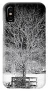 A Tree In The Snow IPhone Case