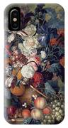 A Vase Of Flowers With Fruit IPhone Case