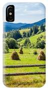 A View From Carpathians IPhone Case