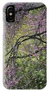 A View Of A Blooming Redbud Tree IPhone Case