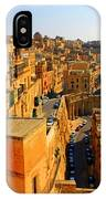 A View Of Valletta's Waterfront IPhone Case