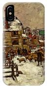 A Village In The Snow IPhone Case