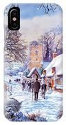 A Village In Winter IPhone Case