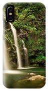 A Waterfall In Hana, Maui IPhone Case