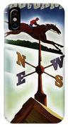 A Weathervane With A Racehorse IPhone Case