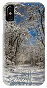 A Winter Road IPhone Case