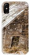A Winter Shed IPhone Case