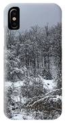 A Wintery View At The United States Military Academy IPhone Case