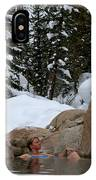 A Woman At A Natural Hot Springs IPhone Case